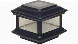 Classy_Caps_Outdoor_Solar_Deck_Fence_Light_Post_Cap_4x4_Wood_High_Performance_Bright_LED_Colonial_Black_SL088