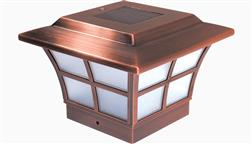 Classy_Caps_Outdoor_Solar_Fence_Deck_Light_Post_Cap_4x4_4_Inch_LED_Decorative_Prestige_Copper_SL079C