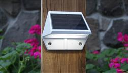 Classy_Caps_Solar_Outdoor_Lighting_Wall_Pathway_Garden_Fence_Lights_White_SL179_Wall_Mount_Night
