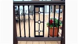 DeKor_Perfect_Panel_Lit_With_Square_Aluminum_Balusters_Best_Deck_Baluster_Pretty_Thick_Rich_Elegant_Strong