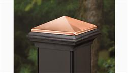 Deckorators_CXT_Composite_Copper_High_Point_5x5_Post_Cap_For_Traditional_Post_Sleeve_Black