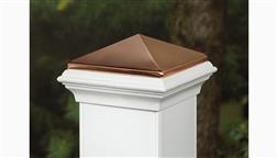 Deckorators_CXT_Composite_Copper_High_Point_5x5_Post_Cap_For_Traditional_Post_Sleeve_White.