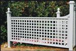 Nantucket-Post-Cap-Red-Cedar-Fence-Lattice-Fence-Section-Example 1
