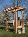 Nantucket-Post-Cap-Red-Cedar-Pergola-Arlington-Garden-Pergola-Example1