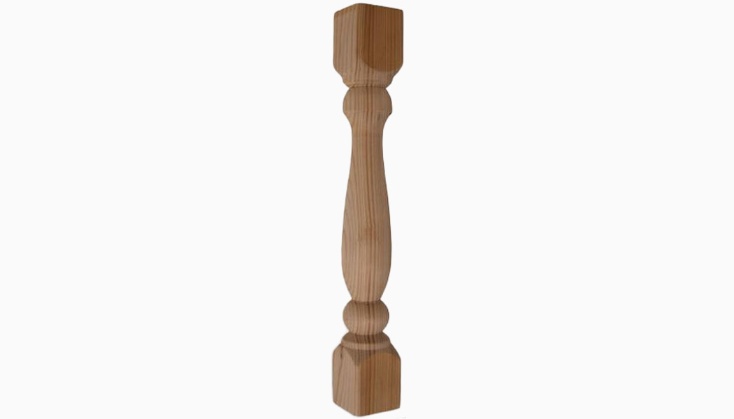 "Porch 2x2 12""-18"" Cedar Turned Wood Balusters by Mr Spindle"