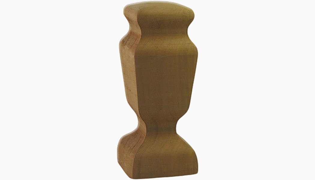 "Carriage Light 4"" Cedar Wood Finials by Mr Spindle"
