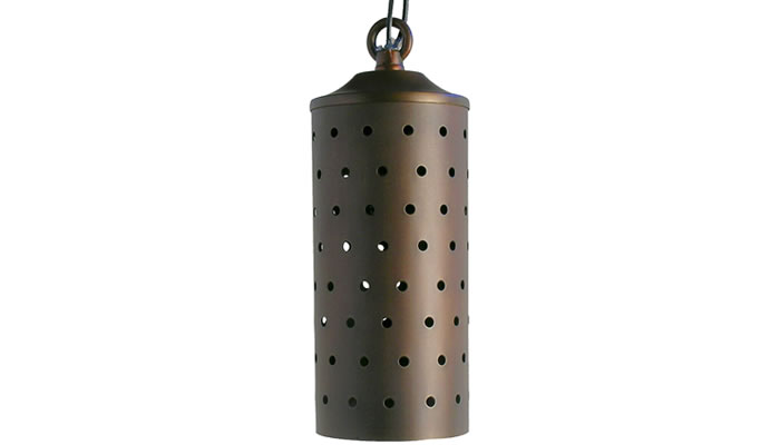Arapahoe Round Outdoor Hanging Lamp by Highpoint Deck Lighting