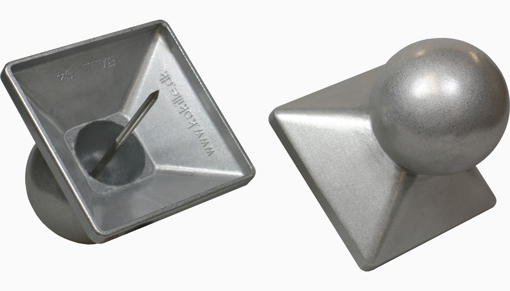 QuickCap Heavy Aluminum Ball Post Caps 2-Pack by Kokille